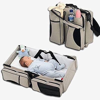 NEW Baby 3-in-1 Diaper Bag Travel Bassinet Changing Station Bed Portable Crib