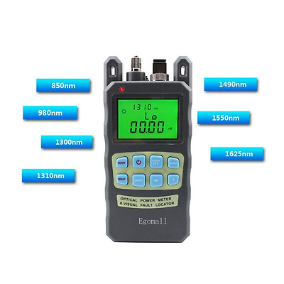 Fiber Optic Cable Tester Meter Sockets -70 to +10dbm 1mw 3.1mi Tools Portable