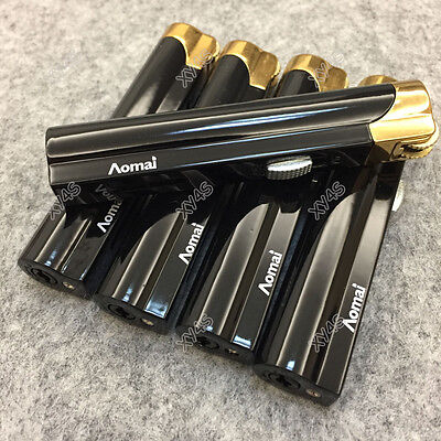 5 Pcs AOMAI Jet Torch Adjustable Lockable Flame Cigar Cigarette Lighter Black