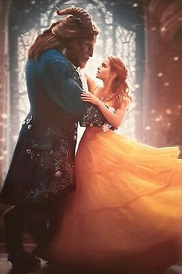 Beauty And The Beast Dancing Film Movie 2017 A4 Poster Picture Print Art