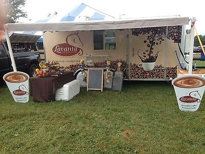 Coffee / Food Concession Trailer Turn Key with Bathroom 16ft x 8ft
