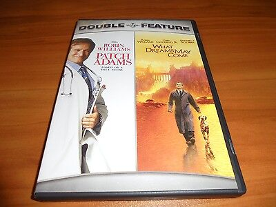 Patch Adams/What Dreams May Come (DVD, 2007, 2-Disc WS)  Robin Williams Used