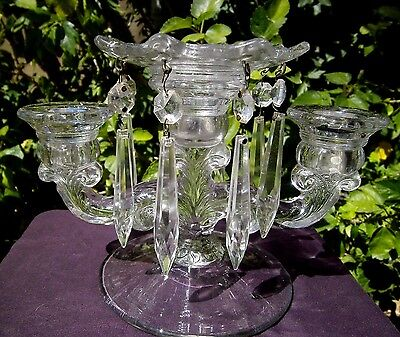 Antique Glass Candelabra Possibly Bobeche Or Heisey