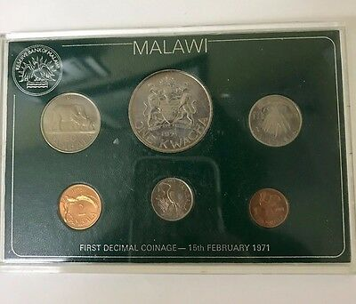 1971 Malawi First Decimal Coinage 6 Coin Set