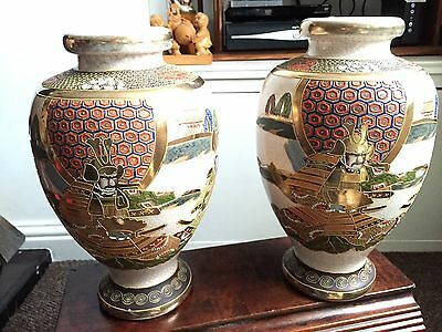 Large Pair Of Vintage Japanese Vases