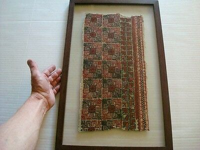 Ancient Pre-Columbian Woven Wool Textile Peru Chancay Chimu Mexico Mayan Inca