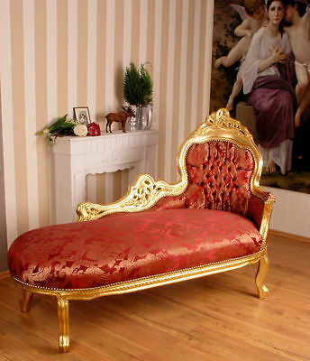 Chaise longue rococo style royal furniture sofa picclick uk - Chaise style baroque ...