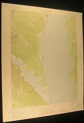 Widewater Virginia Potomac River 1978 vintage USGS original Topo chart map