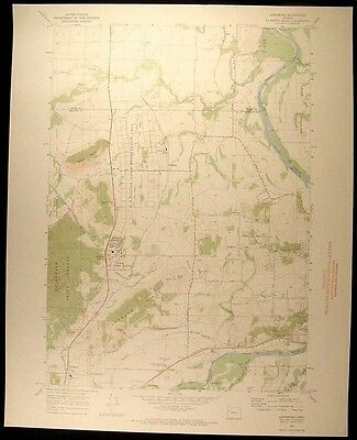 Lewisburg Oregon Adair Air Force Base 1970 vintage USGS original Topo chart map