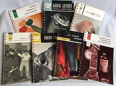 7 Kodak Data Book Photographic Instruction Booklets 1948 - 1965 Vintage Booklets