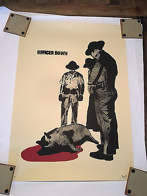 """dolk Limited Edition Print Signed and Numbered shepard fairey """"Officer Down"""""""