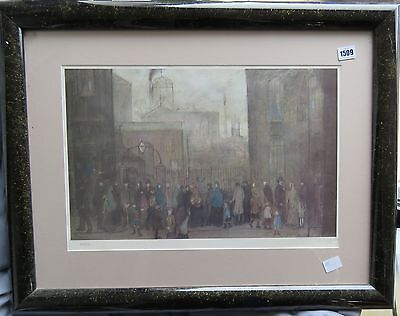 L.s.lowry Outside The Mill/ Limited Edition Numbered Print-250/850 Reduced!!!