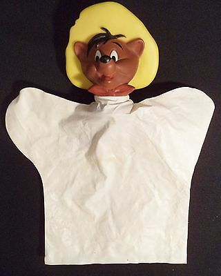 Vtg Speedy Gonzales Hand Puppet Toy Plastic Warner Bros Looney Toons 1970s Japan
