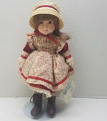 1985 American Greetings Gorham Holly Hobbie Doll First Day of School Bisque