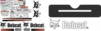 Bobcat T590 Decal Kit with controls. The most complete aftermarket kit available