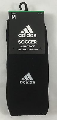 Adidas UNISEX Soccer Metro Socks Arch & Ankle Compression 1 Pair Black Size M