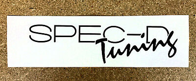 """Spec-D Tuning High Quality Vinyl Decal 8"""" x 2"""" (Multiple Colors)"""