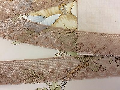 Antique English Lace Ecru 22 mm wide x  4 metres 100% cotton ~  Stunning