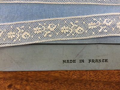 Vintage French Lace White 20 mm wide x  4 metres  100% cotton  ~  Stunning