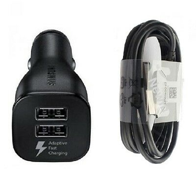 OEM Samsung Galaxy S8 S8+ S7 Car Charger Dual USB Adaptive Fast Adapter Retail
