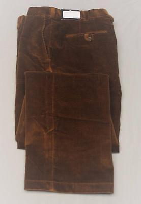 New Mens Size 38/32 Coppley Bailey Brown  Corduroy pants Made in Canada