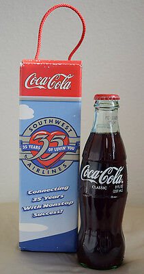 Southwest Airlines Collectible 35th Year Anniversary Coca-Cola Bottle with Box
