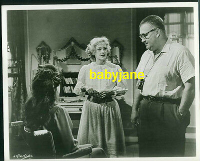 Bette Davis Robert Aldrich Joan Crawford Vintage 8X10 Photo On Set Of Baby Jane