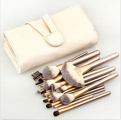 Pro 24 pcs Makeup Brushes Set tools Make-up Beauty Cosmetics kit with Case