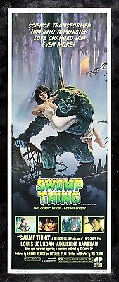 SWAMP THING ✯ CineMasterpieces ORIGINAL MOVIE POSTER INSERT RARE C9-C10 1982