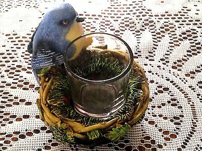 Bluebird Figurine with Nested Candleholder