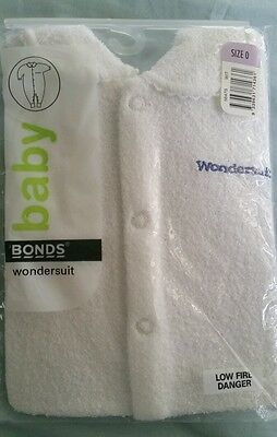 Baby Bonds Wondersuit White Size 0 - Brand New with Tags.