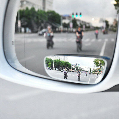 2Pcs Convex Rear Side View Blind Spot Mirror Universal Car Auto 360° Wide Angle