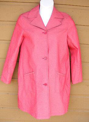OLD NAVY Maternity Coat, Size M, Trench, Red, Button front, Pockets, stretch