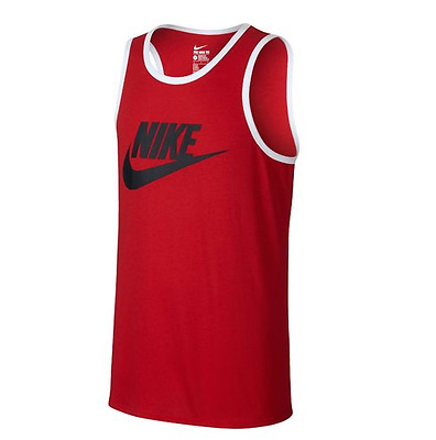 6f13d4d16234c9 New   Nike Mens Ace Logo Tank Top Red White All Sizes 779234-
