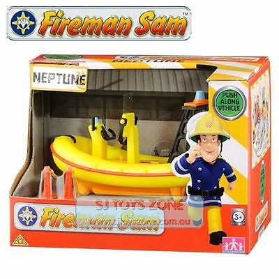 Fireman Sam Fire Rescue Neptune Boat with a Safety Belt & Two buoys Kids Toy