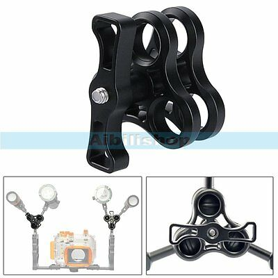 Three Holes Ball Clamp Mount Diving Ball Join Connector For Underwater Camera【UK