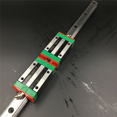 HGR25 Linear Rail Guide L-800mm &2pc Square Rail Block HGH25CA Replace for HIWIN