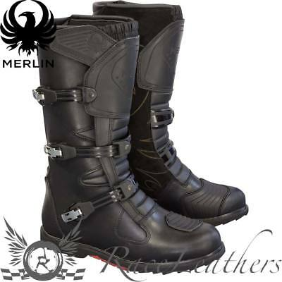 MERLIN G24 HERITAGE 2.4mm LEATHER WATERPROOF ADVENTURE MOTORCYCLE BIKE BOOTS