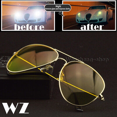 Anti Glare Vision HD Glasses Prevention Yellow Driver Night Driving Sunglasses