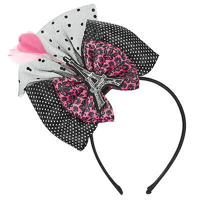 A Day In Paris Pink Black White Birthday Party Eiffel Tower Hat Bow Hairband