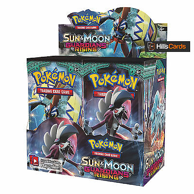 Pokemon Cards: Sun & Moon Guardians Rising Sealed Booster Box - 36 Packs - SM-2