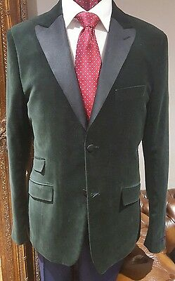 Green Velvet Jacket - Slim Fitting - Formal Wear/Dress Wear/ Wedding Jacket 42 R