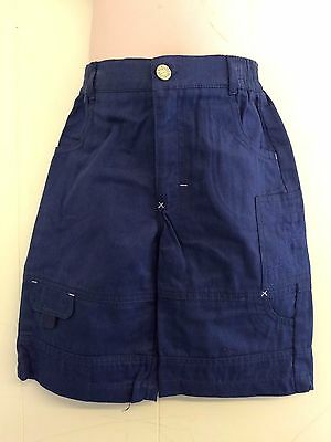 Lovely Navy Blue 100% Cotton Cargo Trousers from Hamilton Age 2 or 3 Yrs - BNWT!