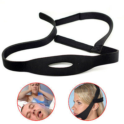Adjustable Elastic Anti Snoring Chin Strap Jaw Sleep Belt Stop Snore Practical