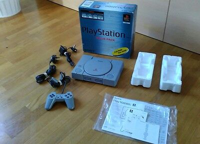 Sony Playstation 1 Ps1 Consola Pal Boxed Caja Consola Tested
