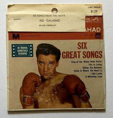 Elvis Presley-Very Rare 100% Original Still Sealed Kid Galahad Usa Ep
