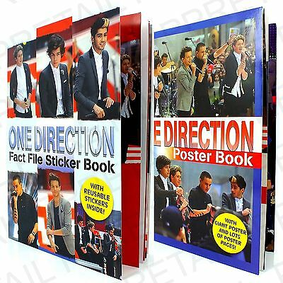 ONE DIRECTION FACT FILE STICKER OR POSTER BOOK 1D Harry Zayn Liam Louis Niall