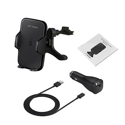 New Qi Wireless Car Charger Transmitter Holder 360 Rotation for Samsung S8/plus