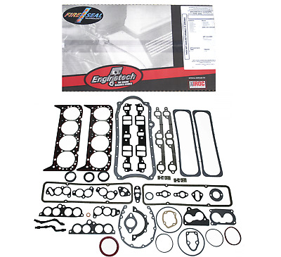 Sbc Small Block Chevy Full Complete Gasket Set 5.7L 350 86-95 1 Pc Rear Seal