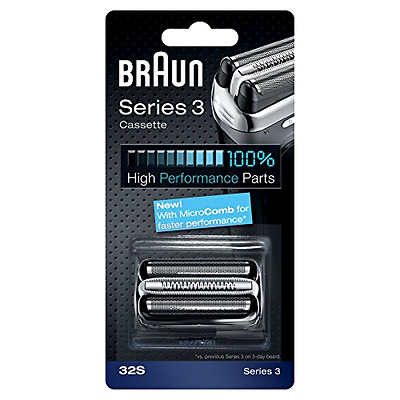 Electric Shaver Head For Series 3 Replacement Foil And Cassette Cartridge Silver